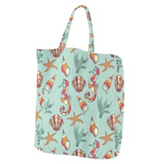 Coral Love Giant Grocery Tote