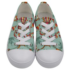 Coral Love Kids  Low Top Canvas Sneakers