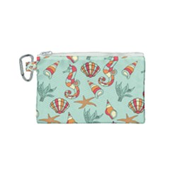 Coral Love Canvas Cosmetic Bag (small)