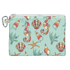 Coral Love Canvas Cosmetic Bag (xl)