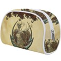 Wonderful Deer With Leaves And Hearts Makeup Case (Large) View2