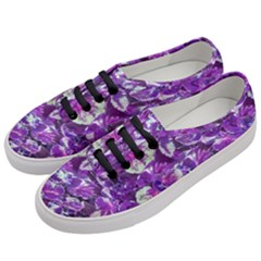 Botanical Violet Print Pattern 2 Women s Classic Low Top Sneakers by dflcprintsclothing