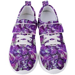 Botanical Violet Print Pattern 2 Women s Velcro Strap Shoes by dflcprintsclothing
