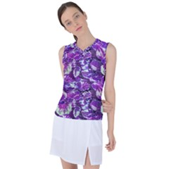 Botanical Violet Print Pattern 2 Women s Sleeveless Sports Top by dflcprintsclothing