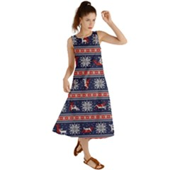 Christmas Deer Sex Summer Maxi Dress