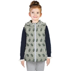 Army Green Hand Grenades Kids  Hooded Puffer Vest