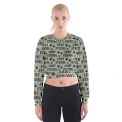 Army Stong Military Cropped Sweatshirt by McCallaCoultureArmyShop