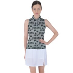 Army Stong Military Women s Sleeveless Polo Tee