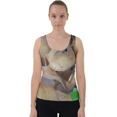 Close Up Mushroom Abstract Velvet Tank Top