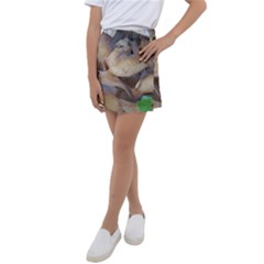 Close Up Mushroom Abstract Kids  Tennis Skirt