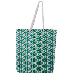 Illustrations Background Texture Full Print Rope Handle Tote (large)