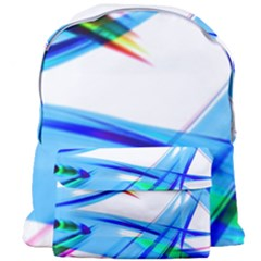 Lines Vibrations Wave Pattern Blue Giant Full Print Backpack
