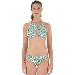Texture Dots Pattern Perfectly Cut Out Bikini Set
