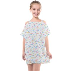 Texture Background Pastel Box Kids  One Piece Chiffon Dress