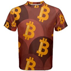 Cryptocurrency Bitcoin Digital Men s Cotton Tee