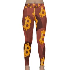 Cryptocurrency Bitcoin Digital Classic Yoga Leggings by HermanTelo
