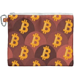 Cryptocurrency Bitcoin Digital Canvas Cosmetic Bag (xxxl)