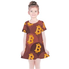 Cryptocurrency Bitcoin Digital Kids  Simple Cotton Dress