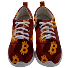 Cryptocurrency Bitcoin Digital Mens Athletic Shoes by HermanTelo