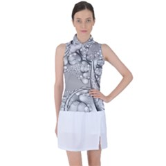 Illustrations Entwine Fractals Women s Sleeveless Polo Tee by HermanTelo