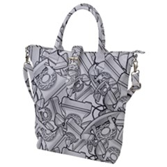 Phone Communication Technology Buckle Top Tote Bag