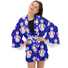 Seamless Snow Cool Long Sleeve Kimono