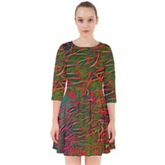 Background Pattern Texture Smock Dress