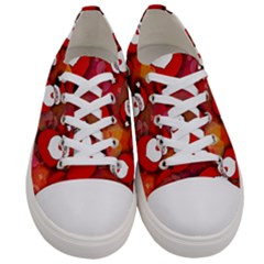 Santa Clause Women s Low Top Canvas Sneakers