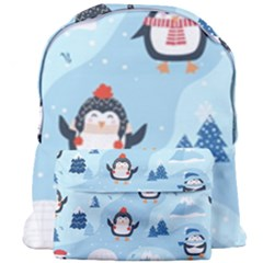 Christmas Seamless Pattern With Penguin Giant Full Print Backpack by Vaneshart