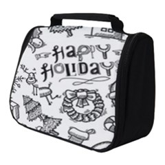 Christmas Seamless Pattern Doodle Style Full Print Travel Pouch (small)
