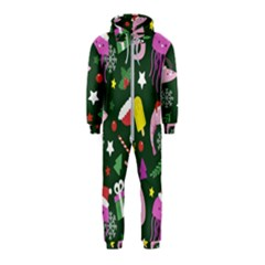 Colorful Funny Christmas Pattern Hooded Jumpsuit (kids) by Vaneshart