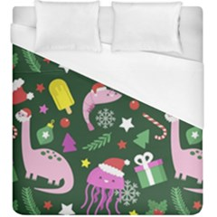 Colorful Funny Christmas Pattern Duvet Cover (king Size) by Vaneshart