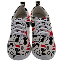 Cute Christmas Seamless Pattern Vector Mens Athletic Shoes