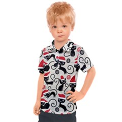 Cute Christmas Seamless Pattern Vector Kids  Polo Tee