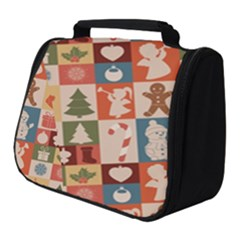 Cute Christmas Seamless Pattern Vector Full Print Travel Pouch (small)