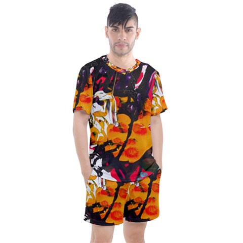 Consolation Before Battle 1 1 Men s Mesh Tee And Shorts Set by bestdesignintheworld