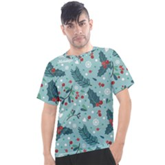 Seamless Pattern With Berries Leaves Men s Sport Top