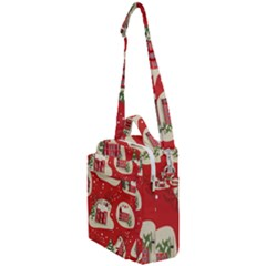 Christmas New Year Seamless Pattern Crossbody Day Bag