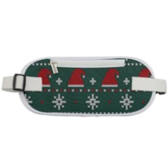 Beautiful Knitted Christmas Pattern Rounded Waist Pouch