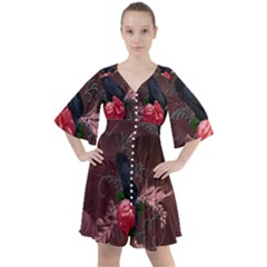 Wonderful Crow Boho Button Up Dress