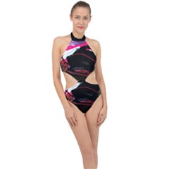 Consolation 1 1 Halter Side Cut Swimsuit