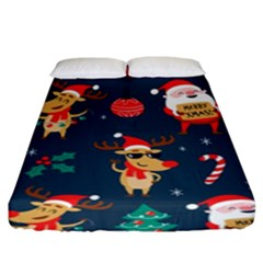 Funny Christmas Pattern Fitted Sheet (king Size)