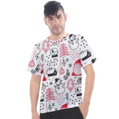 Christmas Themed Seamless Pattern Men s Sport Top