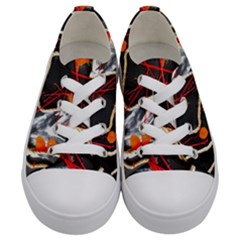 Collage 1 1 Kids  Low Top Canvas Sneakers