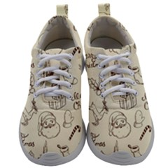 Vintage Christmas Pattern Mens Athletic Shoes