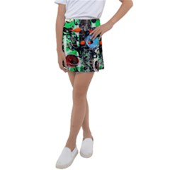 Dots And Stripes 1 1 Kids  Tennis Skirt