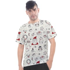 Cute Christmas Doodles Seamless Pattern Men s Sport Top