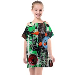 Dots And Stripes 1 1 Kids  One Piece Chiffon Dress by bestdesignintheworld