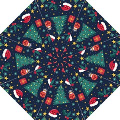 Colorful Funny Christmas Pattern Straight Umbrellas