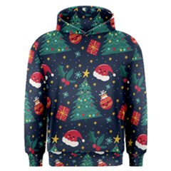 Colorful Funny Christmas Pattern Men s Overhead Hoodie